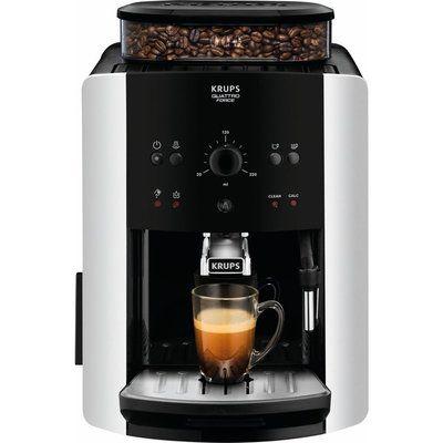 Krups Arabica Manual Espresso EA811840 Bean to Cup Coffee Machine - Black & Silver