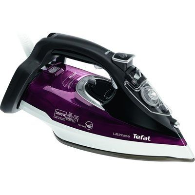 Tefal Ultimate Anti-Scale FV9788 Steam Iron - Maroon and Black, Maroon