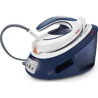 Tefal Express Anti-Scale SV8053 Steam Generator Iron - Blue and White