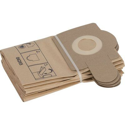 Bosch Paper Filter Bags for PAS 11-21, 12-17 & 12-27F Pack of 5
