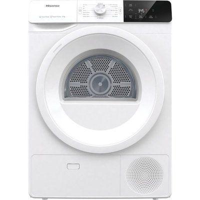 Hisense DHGE8013 8Kg Heat Pump Tumble Dryer - White