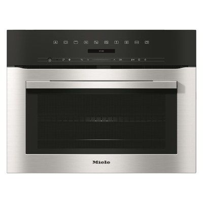 Miele H7140BMclst 1000W 46L Touch Control Built-in Combination Microwave Oven - Clean Steel