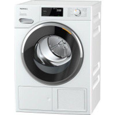 Miele TWF760WP EcoSpeed 8kg T1 Heat-Pump Tumble Dryer - White
