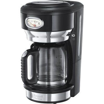 Russell Hobbs Retro Glass Filter Coffee Machine - Black