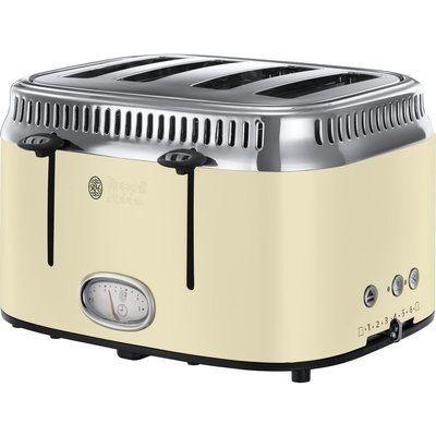 Russell Hobbs Retro 21692 4-Slice Toaster - Cream