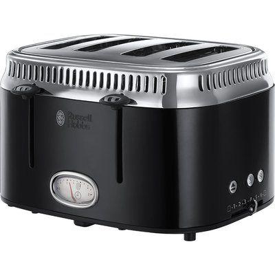Russell Hobbs Retro 21691 4-Slice Toaster - Black
