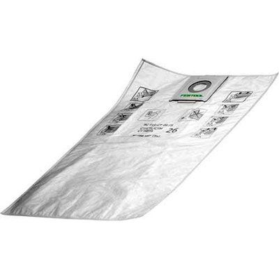 Festool Cleantex CT 26 Self Clean Filter Bags Pack of 5