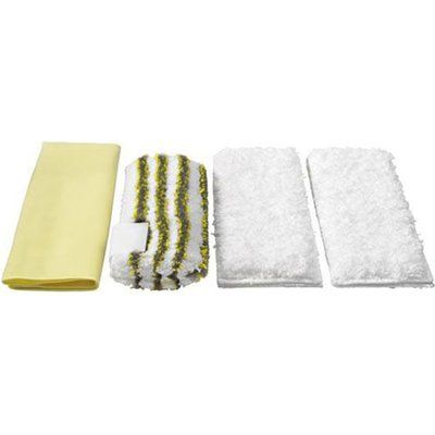 Karcher Various Floor Tool Bathroom Microfibre Cloths for SC, DE and SG Steam Cleaners Pack of 4
