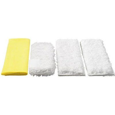 Karcher Various Floor Tool Kitchen Microfibre Cloths for SC, DE and SG Steam Cleaners Pack of 4
