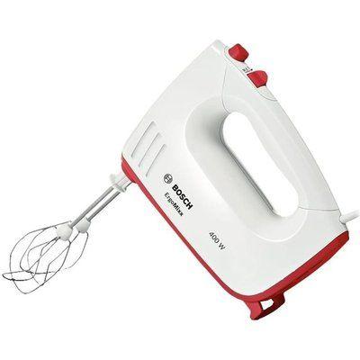 Bosch ErgoMixx MFQ36300GB Hand Mixer - White & Red