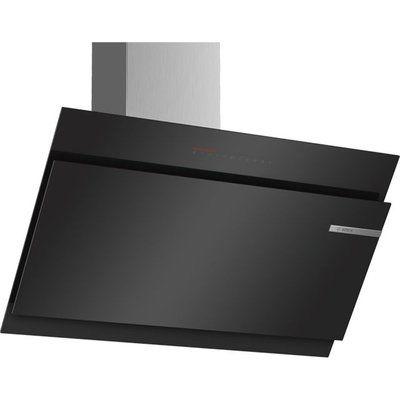 Bosch Serie 6 DWK97JQ60B 89 cm Angled Chimney Cooker Hood - Black
