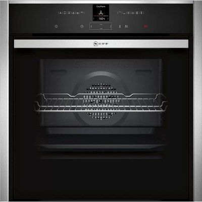 Neff B57CR23N0B N70 Slide&Hide Electric Built-in Single Oven WIth Pyrolytic Cleaning - Stainless Steel
