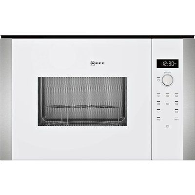 Neff HLAWD53W0B N50 900W 25L Compact Height Built-in Microwave Oven For A 60cm Wide Cabinet - White