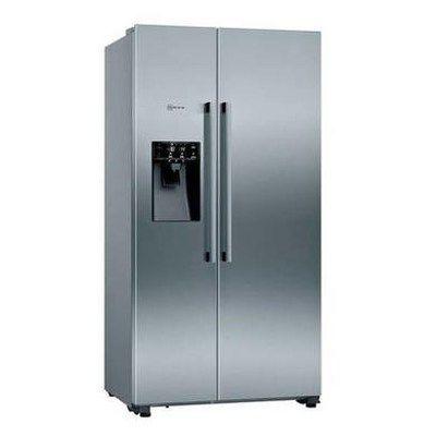 Neff KA3923IE0G N70 Side-by-side American Fridge Freezer With Ice & Water Dispenser - Anti-fingerprint Stainless Steel