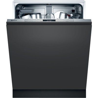 NEFF N50 S155HAX27G Wifi Connected Fully Integrated Standard Dishwasher - Stainless Steel Control Panel