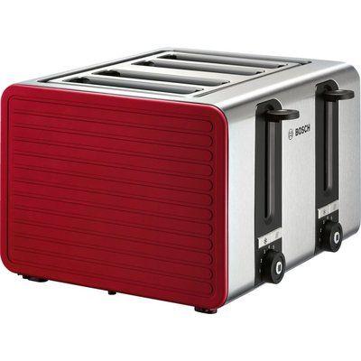 Bosch TAT7S44GB 4-Slice Toaster - Red & Silver
