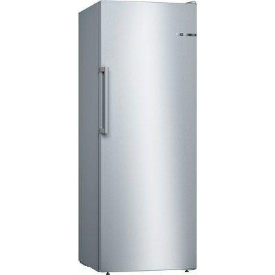 Bosch GSN29VLEP Serie 4 161x60cm Upright Freestanding Freezer - Stainless Steel Look