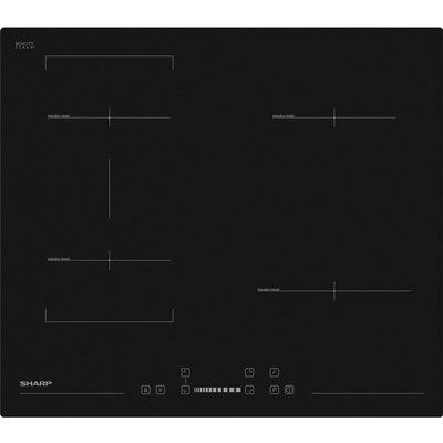 Sharp KH-6I35NS00-EU 59cm Induction Hob - Black