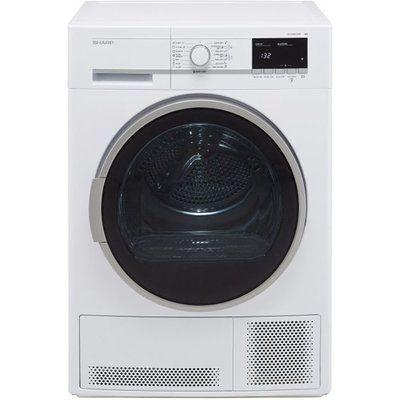Sharp KD-GCB8S7GW9-EN 8Kg Condenser Tumble Dryer - White