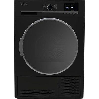 Sharp KD-GCB8S7GB9-EN Condenser Tumble Dryer - Black
