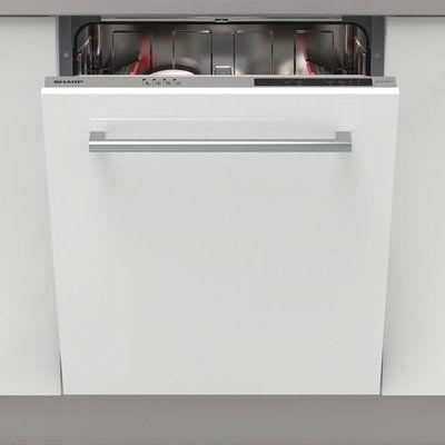 Sharp QW-NI13I49EX-EN Fully Integrated Standard Dishwasher - Silver