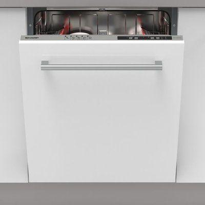 Sharp QW-NI14I47EX-EN Fully Integrated Standard Dishwasher - Silver