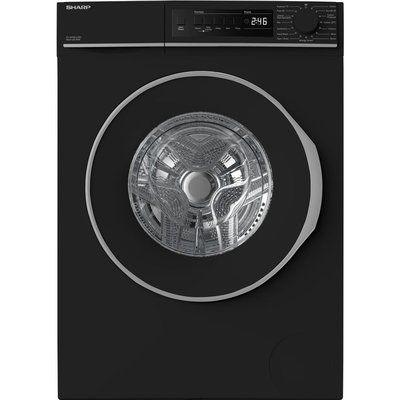 Sharp ES-NFB8141BD 8 kg 1330 Spin Washing Machine - Black