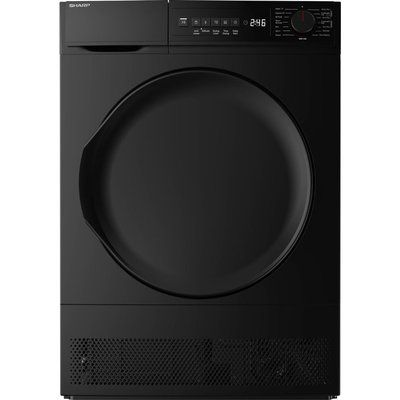 Sharp KD-NCB8S7PB9-EN 8 kg Condenser Tumble Dryer - Black