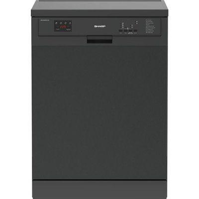 Sharp QW-DXA26F41A Full-size Dishwasher - Dark Stainless Steel