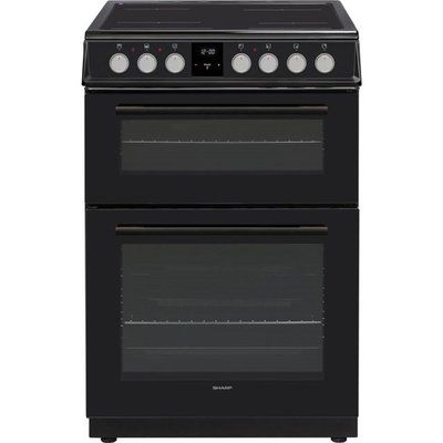 Sharp KF-66DVDD05BL1 Electric Cooker with Ceramic Hob - Black