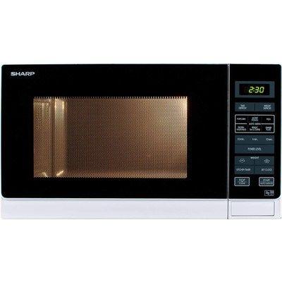 Sharp R372WM 25L Digital Microwave Oven - White