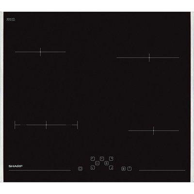 Sharp KH-6V08FT00-EU 59cm Ceramic Hob - Black