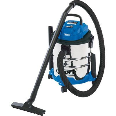 Draper 20L 1250W Wet and Dry Vacuum Cleaner With Stainless Steel Tank 240v
