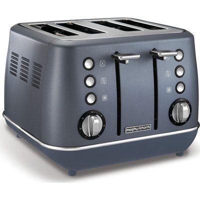 Morphy Richards Evoke 4-Slice Toaster - Steel Blue
