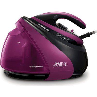 Morphy Richards Speed Steam Pro 332102 Steam Generator Iron - Black & Purple