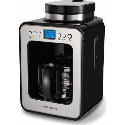 Morphy Richards Evoke Grind & Brew Bean to Cup Coffee Machine - Black & Silver