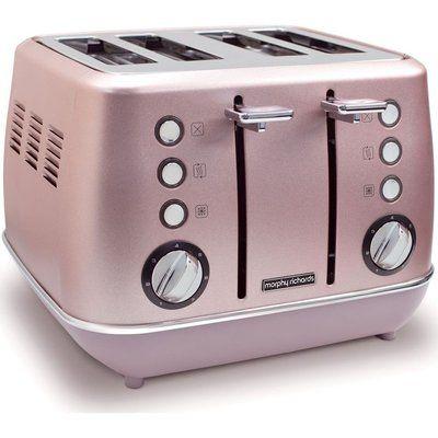 Morphy Richards Evoke Special Edition 4-Slice Toaster - Rose Quartz