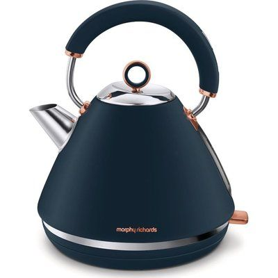 Morphy Richards Rose Gold Collection 102039 Traditional Kettle - Blue & Rose Gold