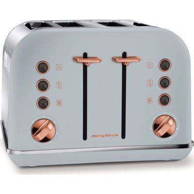 Morphy Richards 242040 4-Slice Toaster - Grey & Rose Gold