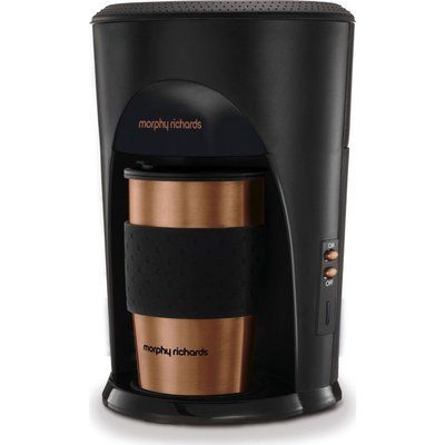 Morphy Richards Coffee on the Go 162743 Filter Coffee Machine - Black & Brushed Steel