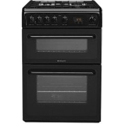Hotpoint HAG60K 600mm Twin Cavity Gas Cooker