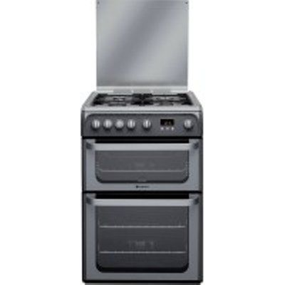 Hotpoint Ultima HUG61G 4 Hob Gas Double Cooker