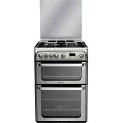 Hotpoint Ultima HUG61X 4 Hob Double Gas Cooker