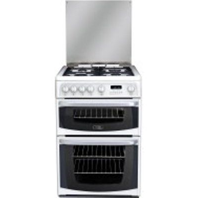 Hotpoint CH60GCIW 4 Hob Gas Cooker with Grill