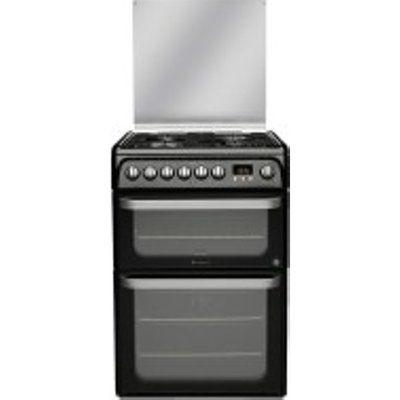 Hotpoint HUD61KS Dual Fuel Cooker with 4 Gas Burner Hob