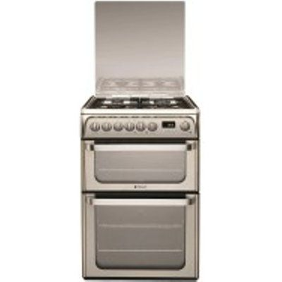 Hotpoint HUD61XS 60cm stainless steel dual fuel Double Oven