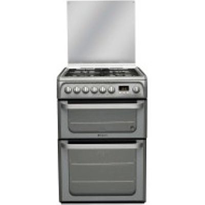 Hotpoint Ultima HUD61GS 600mm Dual Fuel Cooker - Graphite