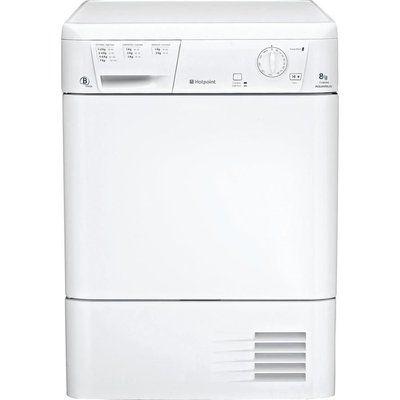 Hotpoint Condenser Tumble Dryer Aquarius TCM580BP - White