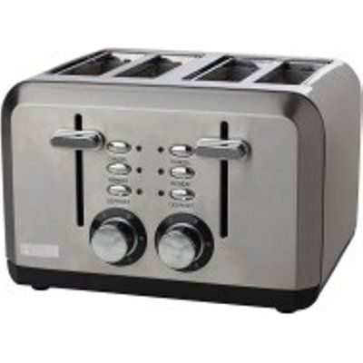 Haden 183477 1600W Sleek 4 Slice Toaster