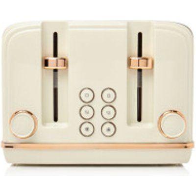 Haden Salcombe 198785 4 Slice Toaster - Cream and Copper